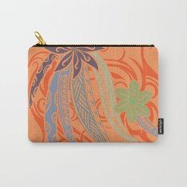 Sunset Orange Hawaiian Tribal Threads Carry-All Pouch
