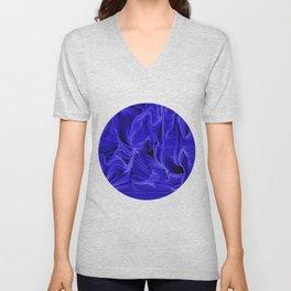 Midnight Blue Mist Unisex V-Neck