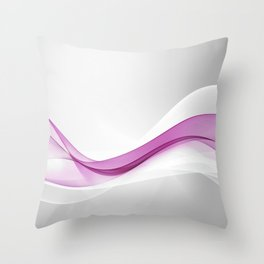 Pink Wave Abstract Throw Pillow