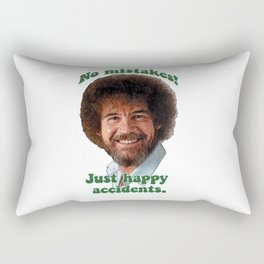 BOB ROSS PBS Painter Painting Show No Mistakes Just Happy Accidents Rectangular Pillow