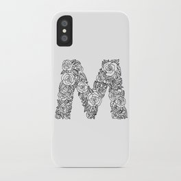 Floral Type - Letter M iPhone Case