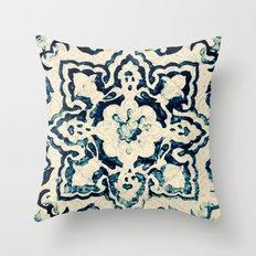 tile pattern - Portuguese azulejos Throw Pillow