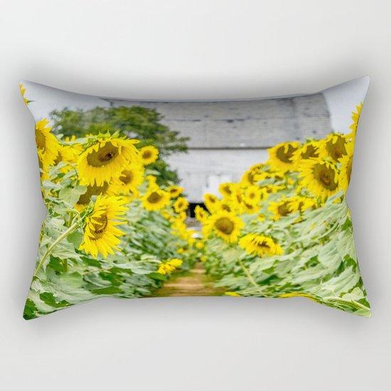 Follow the Yellow Flower Road Rectangular Pillow