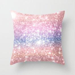 Pastel Galaxy Sparkle Stars Throw Pillow