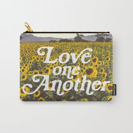 Love One Another Sunflowers Carry-All Pouch