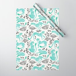 Cheetah Collection – Mint & Black Palette Wrapping Paper