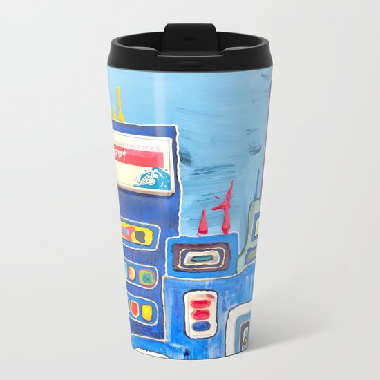 Urban Colorful City Metal Travel Mug