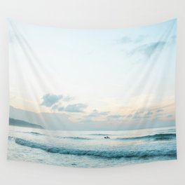 Once your board hits the ocean | Surf travel photography print | Central America Wall Tapestry
