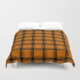 Large Dark Orange Weave Duvet Cover