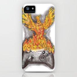 Phoenix Rising Over Game Controller Tattoo iPhone Case
