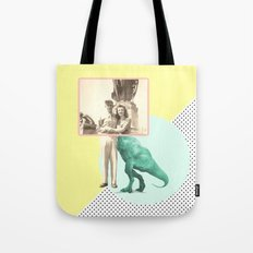 Who would like to date a t-rex Tote Bag
