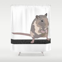 rat Shower Curtains featuring Rat by AJVicoso