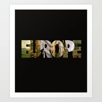 europe Art Prints featuring Europe by Stokes Whitaker