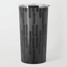 Eye of the Magpie tribal style pattern - dark grey Travel Mug