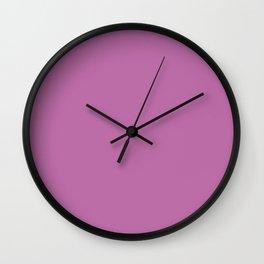 Solid Color Series - Spring Crocus Pantone color Wall Clock