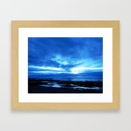 Arm from Above Plays with the Sunset Framed Art Print