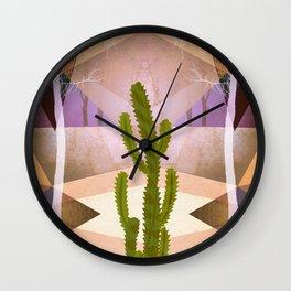 CACTUS INTO GEOMETRIC LANDSCAPE Wall Clock