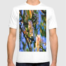 Evening Blossoms Mens Fitted Tee White MEDIUM