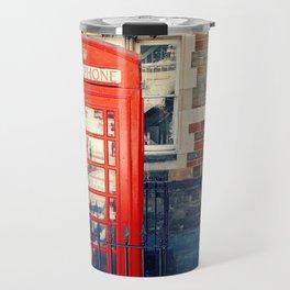 Red phone booth Travel Mug