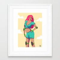 roller derby Framed Art Prints featuring Roller derby by rbengtsson