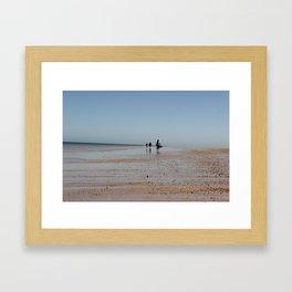 Beach Walkers Framed Art Print