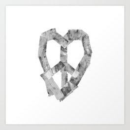 Peace Heart Art Print