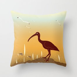 A Full Ibis Throw Pillow
