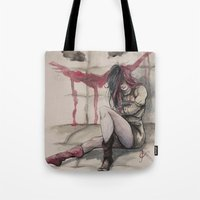 harley Tote Bags featuring Harley by Alonzo Canto