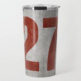 Vintage Auto Racing Number 27 Travel Mug