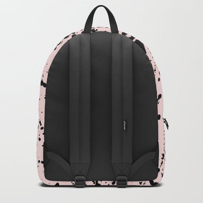 Splat Black on Pink Backpack