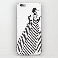 dress iPhone & iPod Skins featuring Dress by Yordanka Poleganova
