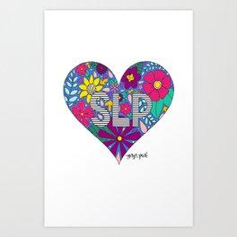 Whimsical Heart SLP Art Print