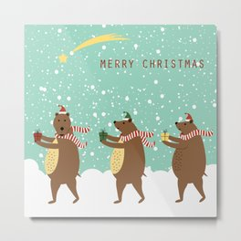 Bears as Three Kings Metal Print