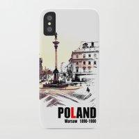 poland iPhone & iPod Cases featuring Poland, Warsaw 1890-1900 by viva la revolucion