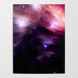Galaxy : Pleiades Star Cluster nebUlA Purple Pink Poster