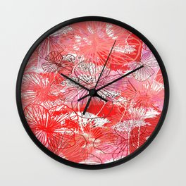 Love for florals Wall Clock