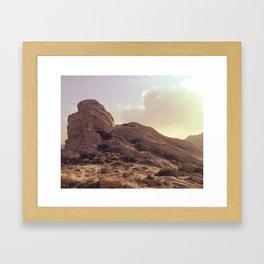 Vasquez Rocks Framed Art Print