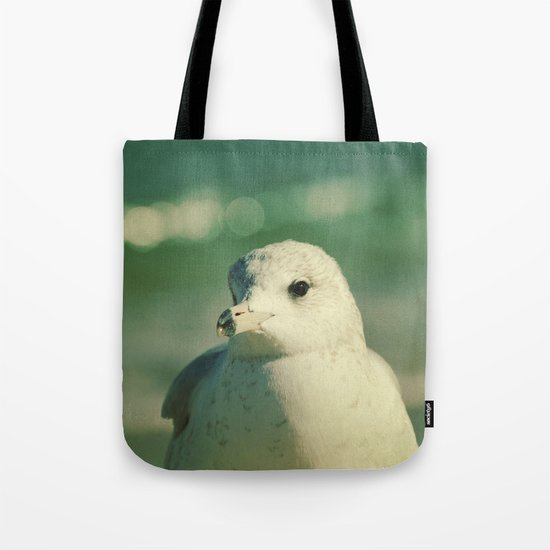 Seagull Close Up Tote Bag