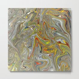 Abstract Oil Painting 30 Metal Print