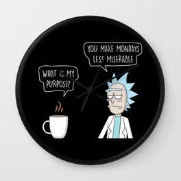Purpose of coffee Wall Clock