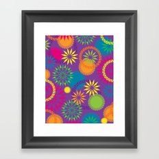 Spikeyflower Purple Framed Art Print