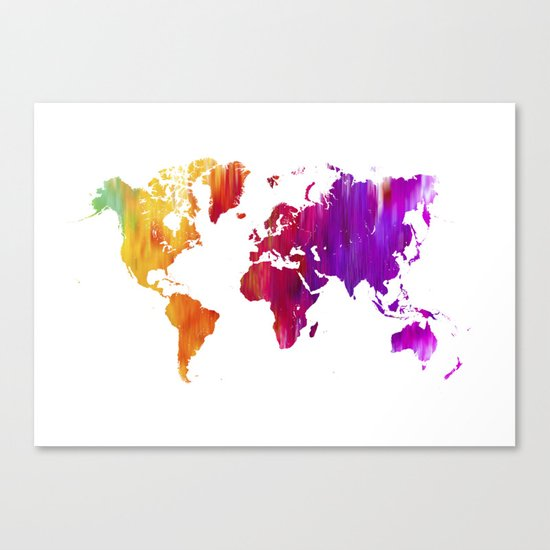 World filled with COLOR ! Canvas Print