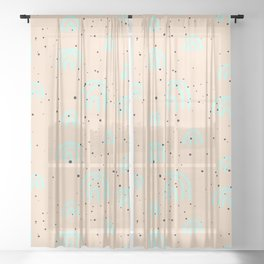 Cute Pastel Color Pattern Sheer Curtain