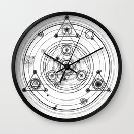 Sacred geometry magic circles Wall Clock