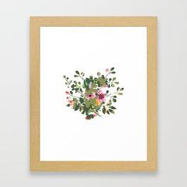 Floral camouflage Framed Art Print