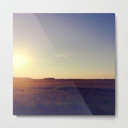 Plains and Simple Metal Print