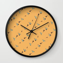 Flying Birds Upon Sunrise Wall Clock