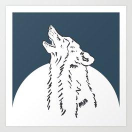 Pra Loup Howling Wolf Art Print