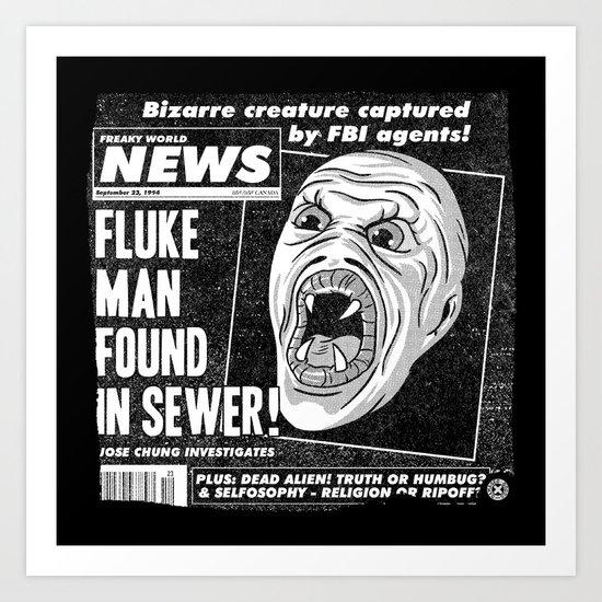 Freaky World News Art Print