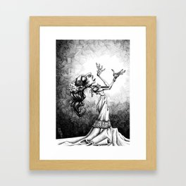 Wide-eyed Shinma Framed Art Print